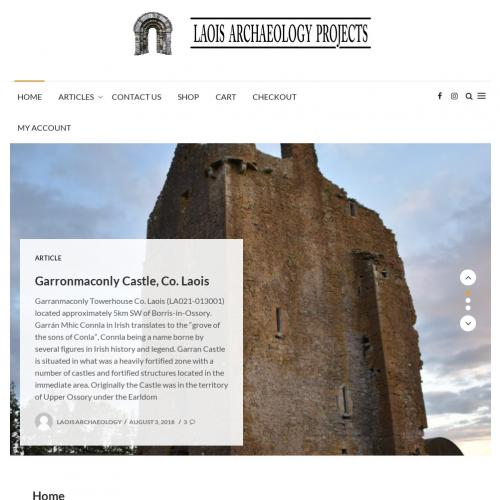 Web Design - Laois Archaeology